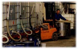 Préparation et fabrication d'un produit en containers inox 1000 litres
