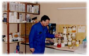 Vue partielle du laboratoire de recherche
